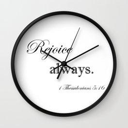 Always Rejoice Wall Clock