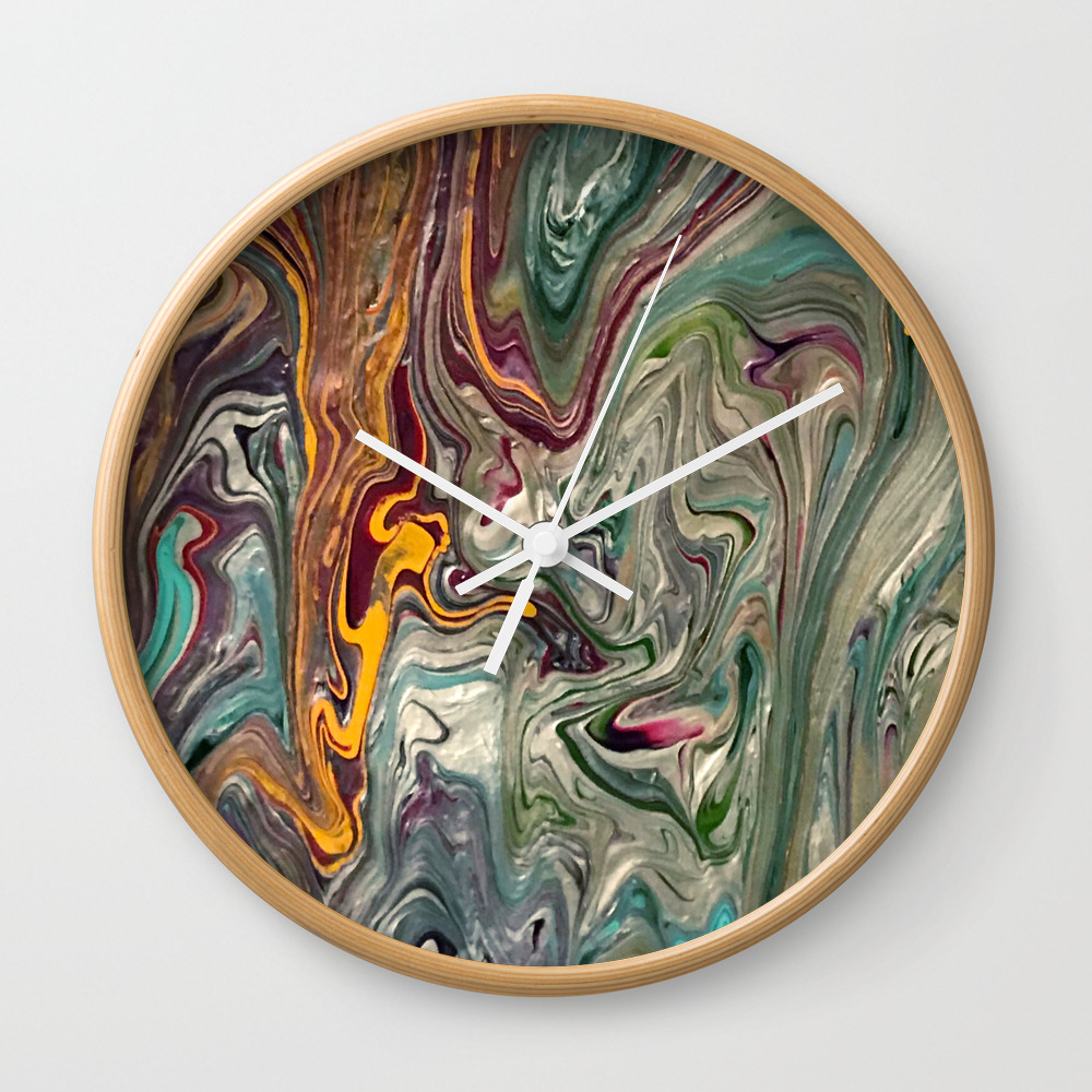 Royal Marble Clock By Artbycourtdesigns (CLK8852404) Photo
