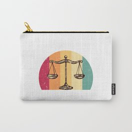 Scales Of Justice Lawyer Retro Gift Idea Carry-All Pouch