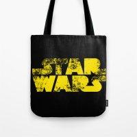 starwars Tote Bags featuring StarWars  by WaXaVeJu