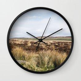 Footpath on Curbar Edge. Derbyshire, UK. Wall Clock