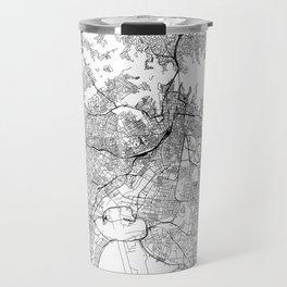 Sydney White Map Travel Mug