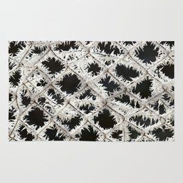Frosted Fence Rug