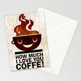 Coffe, love coffe Stationery Cards