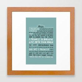 Bryan Vows Framed Art Print