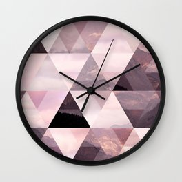 Morning on The Alps Wall Clock