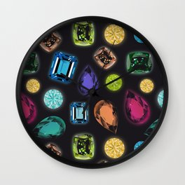 Gemstones Wall Clock