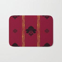 Chic Classique Art Deco Burgundy Red Bath Mat