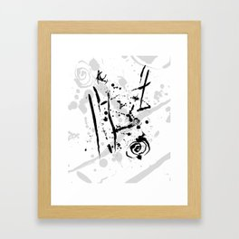 Minimalist Abstract Modern Art Ink Splatter Framed Art Print