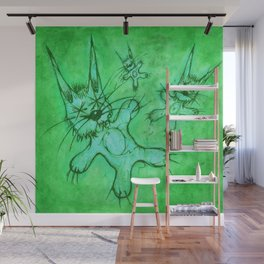 Record Cover for some Jazzed Rabbits, Greenish. Wall Mural