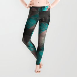 Bubblicious - Teal Pink & Taupe Palette Leggings