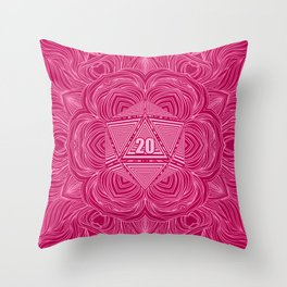 Natural 20 Mandala Seduced by a Bard Throw Pillow