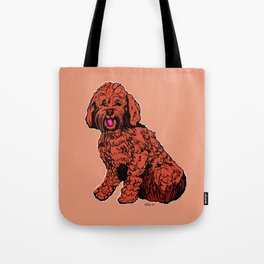 Labradoodle Illustration Tote Bag