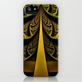 Gold-Leafed Foil Fractal Latticework for LUX VOIR iPhone Case