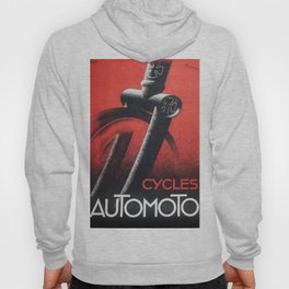 1932 Automoto Bicycles Motorcycles Vintage Advertising Poster Hoody