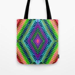 Psychedelic Chevron Tote Bag