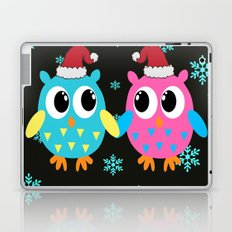 Xmas Owls in the Snow Laptop & iPad Skin