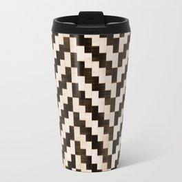 Brown herringbone Travel Mug