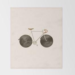 Licorice Bike Throw Blanket