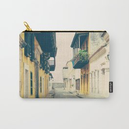 Summer Town (Retro and Vintage Urban, architecture photography) Carry-All Pouch