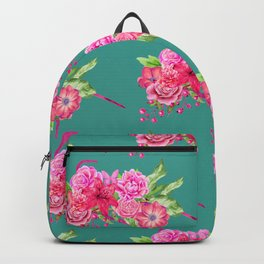 A FLORAL LOVE  (TURQ/LRG) Backpack