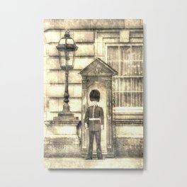 Buckingham Palace Queens Guard Vintage Metal Print