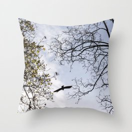 Sky, in Bruges Throw Pillow
