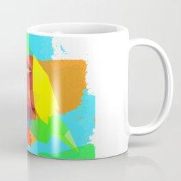 Multicolor parrot print, animal printable wall art, colored parrot, colored wall art, colored decor Coffee Mug