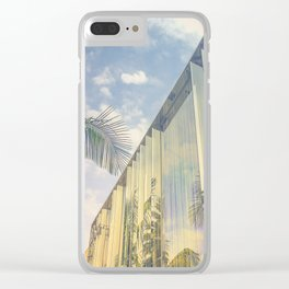 Beverly Hills - Palm Reflections Clear iPhone Case