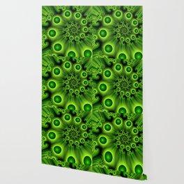 Green Fractal, Modern Spiral With Depth Wallpaper
