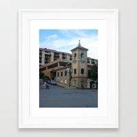 kansas city Framed Art Prints featuring Kansas City by Jan Bennicoff