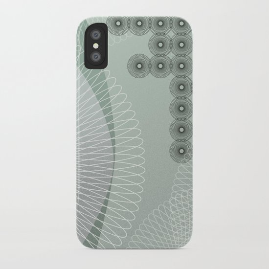 Swingtime in Green and Grey iPhone Case