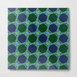 Tesselating Turtles Metal Print