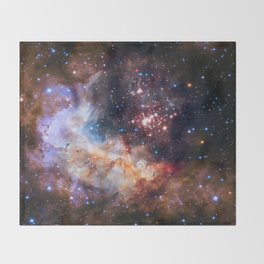 Westerlund 2 - Hubble's 25th Anniversary Throw Blanket