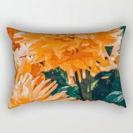 Coral Floral Rectangular Pillow