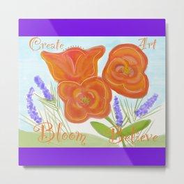 Georgia Peach Bouquet Metal Print
