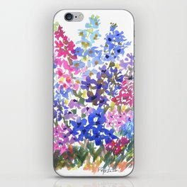 Blue Delphinium Garden iPhone Skin
