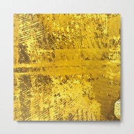Textured Pineapple Abstract Art Metal Print