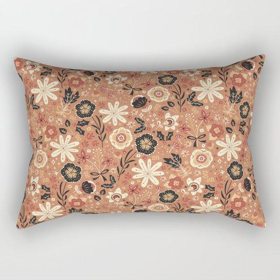 Festive Florals (Oranges) Rectangular Pillow