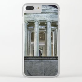 Jefferson Memorial - Side View Clear iPhone Case