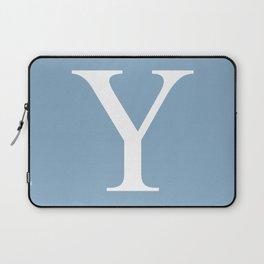 Letter Y sign on placid blue background Laptop Sleeve