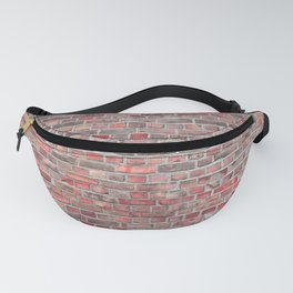 brick wall background - red vintage stone Fanny Pack