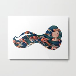 Koi fish hair Metal Print