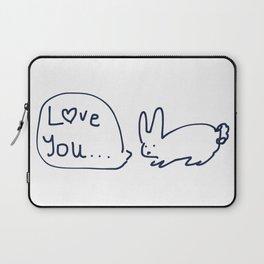 Love you... RABBITS TALKING Laptop Sleeve