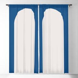 Minimal Arch - Classic Blue Blackout Curtain