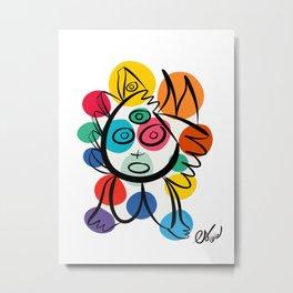 Colorful Cool Kid Joyful Graffiti Art  Metal Print
