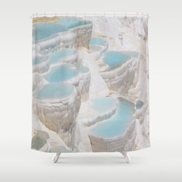 ancient calcium famous geological Shower Curtain