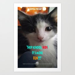 Sophia The Cat # 4 [Tex's Owner] Art Print