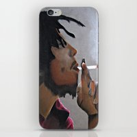 marley iPhone & iPod Skins featuring Marley Portrait by Samaa Ahmed