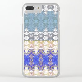 Sweet Lovely Intricate Boho Blues Lace Detail Clear iPhone Case